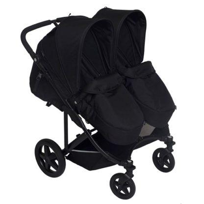 Basson Baby Duo Twin sittvagn, svart